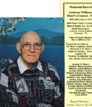 ambrose  williams's Memorial