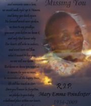 Mary  Poindexter's Memorial