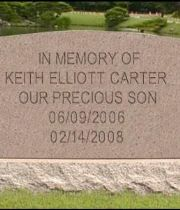 Keith Elliott Carter's Memorial