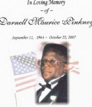 Darnell  Pinkney's Memorial